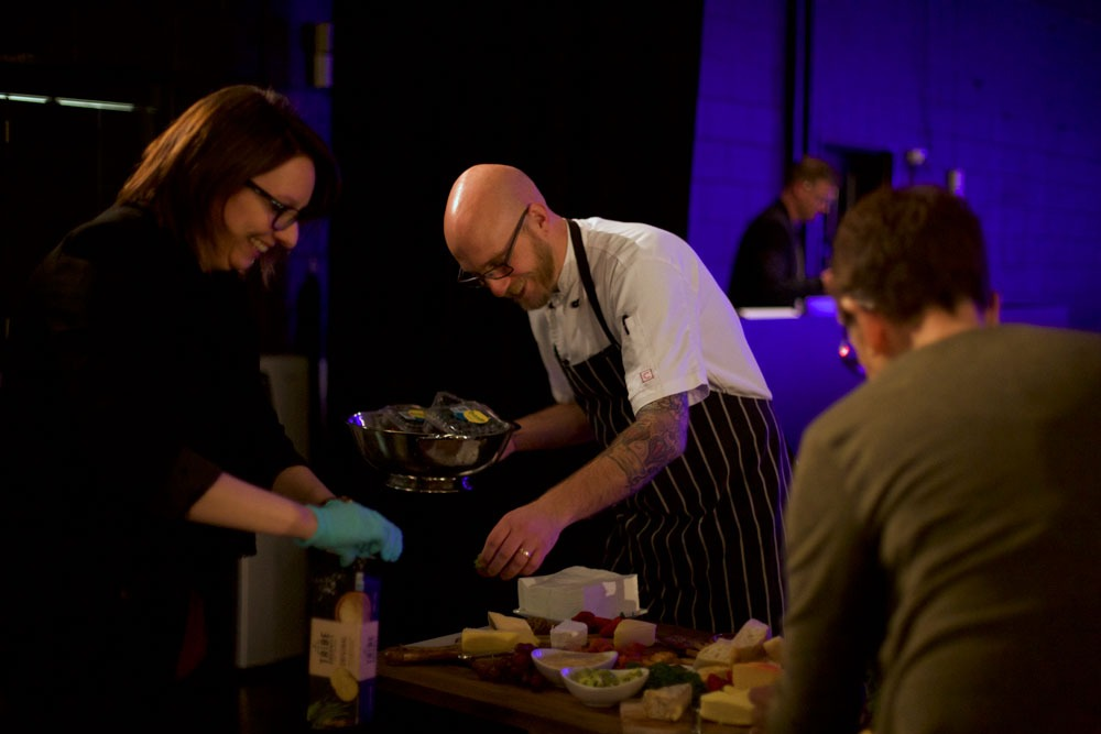 Chef plating up with Event Organisers for Food Allergies