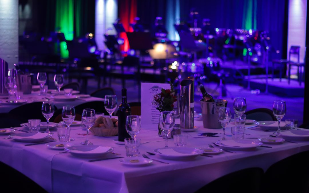 Tables set for Gala Dinner in Toowoomba Venue