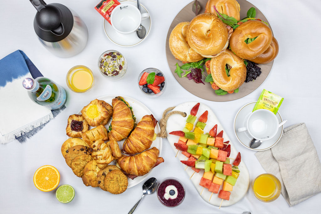 Top Down image of Corporate Catering Style